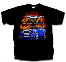 Fiery Mustang Kids T-shirt