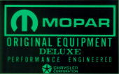 Mopar Battery Decal