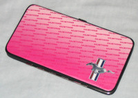 Pink Hinged Wallet